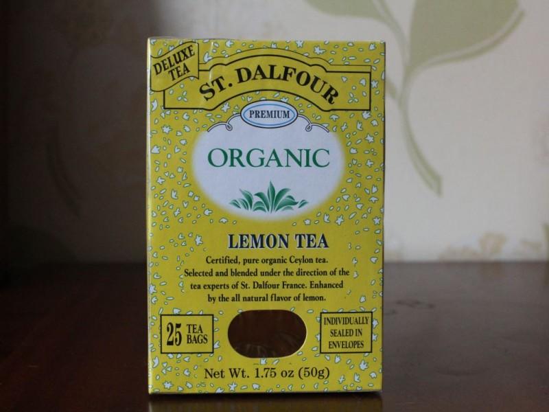 상달프 레몬티-St. Dalfour, Organic, Lemon Tea, 25 Tea Bags, 1.75 oz (50 g)